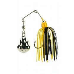 Strike King Mini-King Spinnerbait Black Yellow 1/8oz