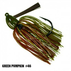 Strike King 3/8 Oz Hack Attack Heavy Cover Jig GREEN PUMPKIN CRAW