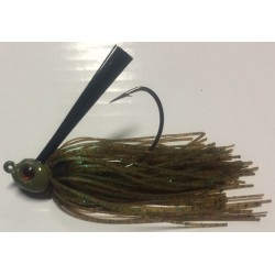 Hillbilly Poisen 1Oz Weedless Heavy Cover Jig Winter Green