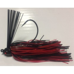 Hillbilly Poisen 1Oz Weedless Heavy Cover Jig Black and Red