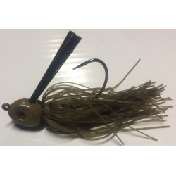 Hillbilly Poisen 1Oz Weedless Heavy Cover Jig Green Pumpkin Red