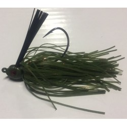 Hillbilly Poisen 1/2Oz Weedless Heavy Cover Jig Watermelon Red