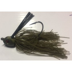 Hillbilly Poisen 3/8Oz Weedless Heavy Cover Jig Green Pumpkin