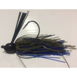 Hillbilly Poisen 3/8Oz Weedless Heavy Cover Jig Green Pumpkin - Black Blue