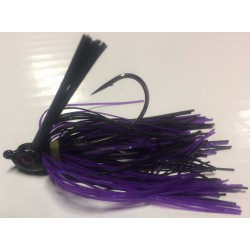 Hillbilly Poisen 1/4Oz Weedless Heavy Cover Jig Junebug