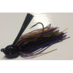 Hillbilly Poisen 1/4Oz Weedless Heavy Cover Jig Peanut Butter Jelly
