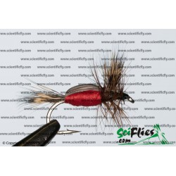 SciFlies Humpy Red 14 3Pack