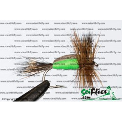 SciFlies Humpy Chartreuse 14 3Pack