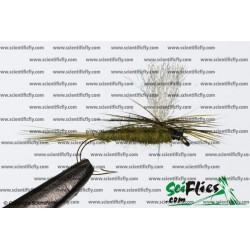 SciFlies Parachute BWO Olive 14 3Pack