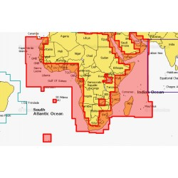 Navionics + Africa and Middle East Commores Mauritius and Seychelles Large Chart Area