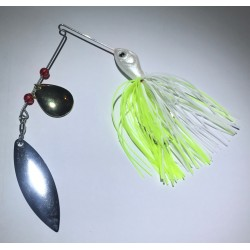 Hillbilly Poisen 1/4 Oz Spinnerbait Chartreuse White cG - WN