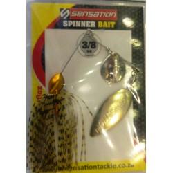 Sensation 3/8 Oz Spinnerbait Gold Shiner cN - WG
