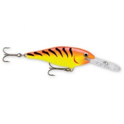 "Rapala Shad Rap HOT TIGER 2"" 3/16oz"