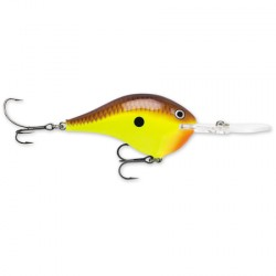 "Rapala Dives-To DT6 CHARTREUSE BROWN 2"" 3/8oz"
