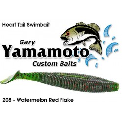 Gary Yamamoto Heart Tail Shad Swimbait Watermelon Red Black 4.5""