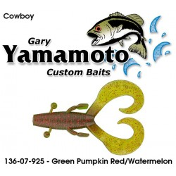 "Gary Yamamoto Cowboy Green Pumpkin Red Flake Watermelon 3.75"""