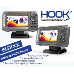 Lowrance HOOK2-4x Bullet GPS Fishfinder with Track Plotter