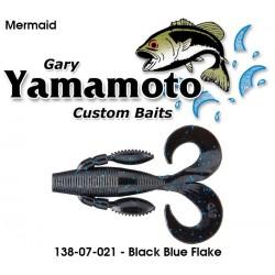 "Gary Yamamoto Mermaid Green Black Blue Fleck 3.75"""