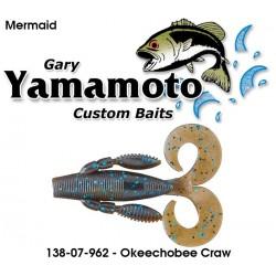 "Gary Yamamoto Mermaid Green Okeechobee Craw 3.75"""