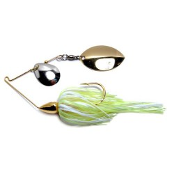 War Eagle Finesse Spinnerbait 3-16th Oz Hot White Chartreuse