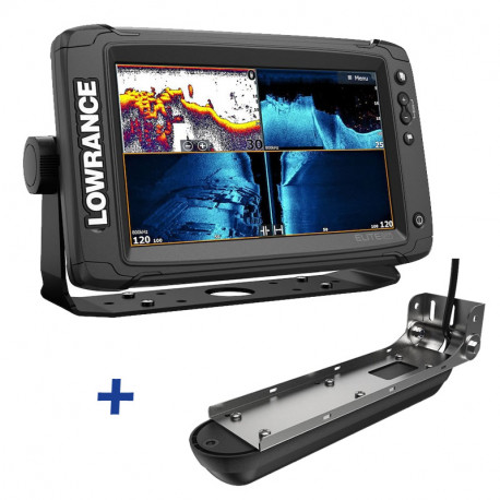 Lowrance Elite-9 Ti2 Active Imaging FishFinder / ChartPlotter with 3-in-1 Transducer Bundle
