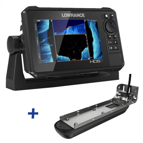 Lowrance HDS-7 LIVE ACTIVE IMAGING FishFinder / ChartPlotter with 3-in-1 Transducer Bundle