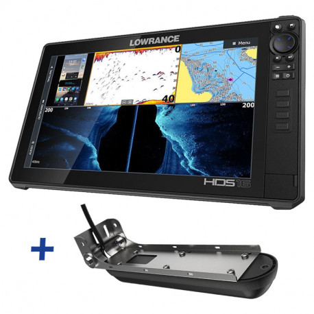 Lowrance HDS-16 LIVE ACTIVE IMAGING FishFinder / ChartPlotter with 3-in-1 Transducer Bundle