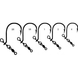 Mustad NO TWIST SHOT Size 1/0 Drop Shot Rig with Mini Swivel