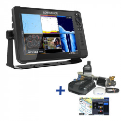Lowrance HDS-12 LIVE CASH BACK REBATE Hydraulic Steer Outboard Autopilot Pack Bundle