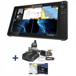 Lowrance HDS-16 LIVE / Hydraulic Steer Outboard Autopilot Pack Bundle
