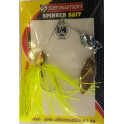 Sensation 1/4 Oz Spinnerbait Chartreuse  cN - WG
