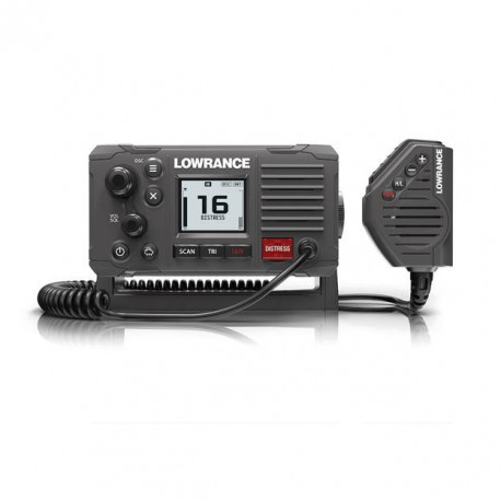 Lowrance LINK-6 S VHF 25 Watt Radio with GPS - Charcoal Case