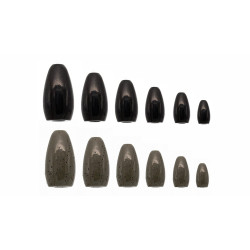 1-1/2 Oz BLACK Tungsten Flipping Weights Mossback