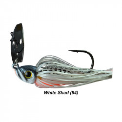 1/2 Oz Picasso Shock Blade Chatterbait White Shad