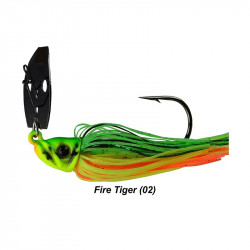 1/2 Oz Picasso Shock Blade Chatterbait Fire Tiger