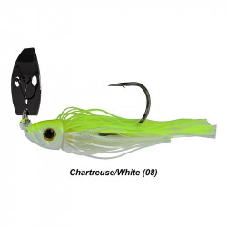 1/2 Picasso Shock Blade Chatterbait Chartreuse White