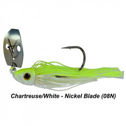 1/2 Oz Picasso Shock Blade Chatterbait Chartreuse White Nickle Blade