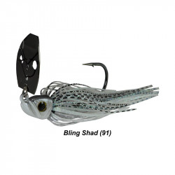 1/2 Oz Picasso Shock Blade Chatterbait  Bling Shad