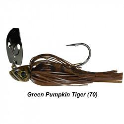 Picasso Shock Blade Chatterbait  3/4 Oz Green Pumpkin Tiger