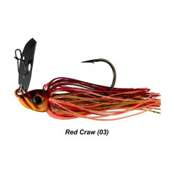 3/8 Oz Picasso Shock Blade Chatterbait  Red Craw