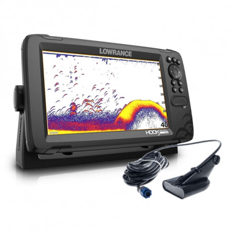 Lowrance HOOK Reveal 9 HDI 50/200 with Deep Water Performance & World Base Map
