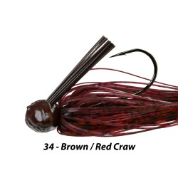 Picasso Fantasy Football Jig Brown Red Craw 3/4 oz 5/0