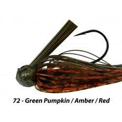 Picasso Fantasy Football Jig Green Pumpkin Amber Red 3/4 oz 5/0