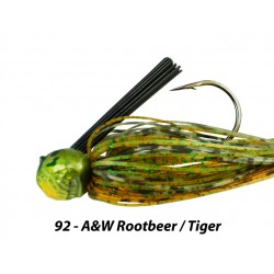 Picasso Fantasy Football Jig A&W Rootbeer Tiger 1/2 oz 4/0