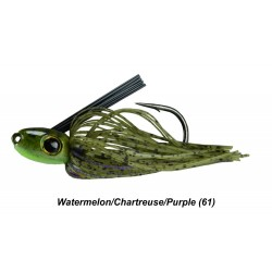 Picasso Straight Shooter Swim Jig Watermelon Chartreuse Purple 3/8 oz 5/0