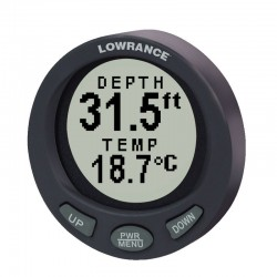 Lowrance LST-3800 Digital Depth and Temperature Gauge with Transducer