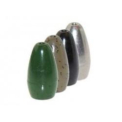 3-8 Oz GREEN PUMPKIN Tungsten Flipping Weights Mossback