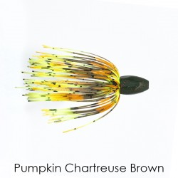 1 Oz Pumpkin Chartreuse Brown Tungsten Punch Skirt Weights - Mossback
