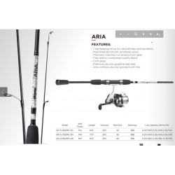 Okuma Aria 7' Medium Heavy 2 Piece Spinning Combo