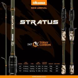 Okuma Stratus 7' Medium Heavy Power Fast Action 2 Piece Spinning Rod